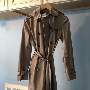 Coach Daphne Trench Coat Putty Color- Size 2